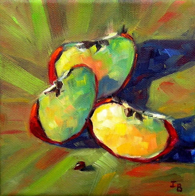 """Three plus one"" original fine art by Irina Beskina"