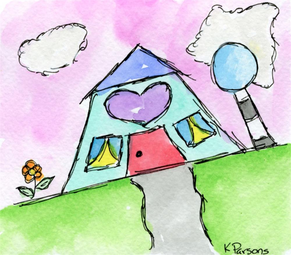 """Love Shack"" original fine art by Kali Parsons"