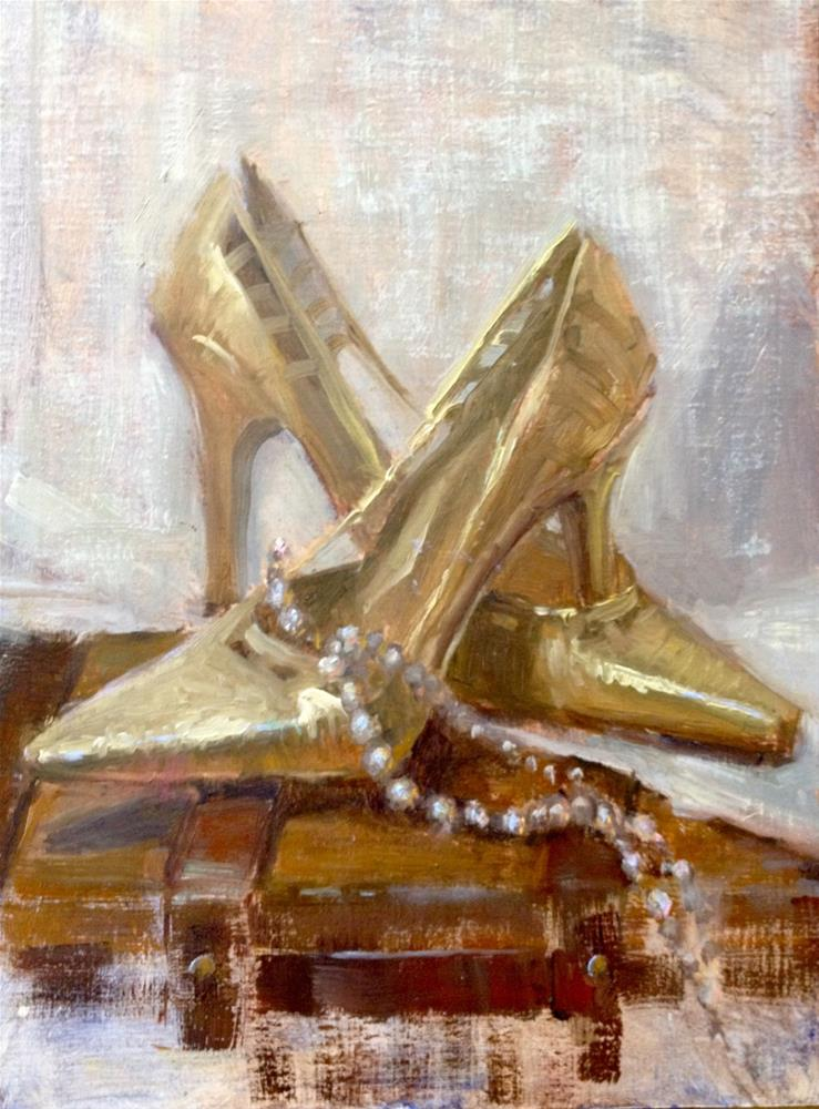 """Party Gold"" original fine art by Johanna Spinks"