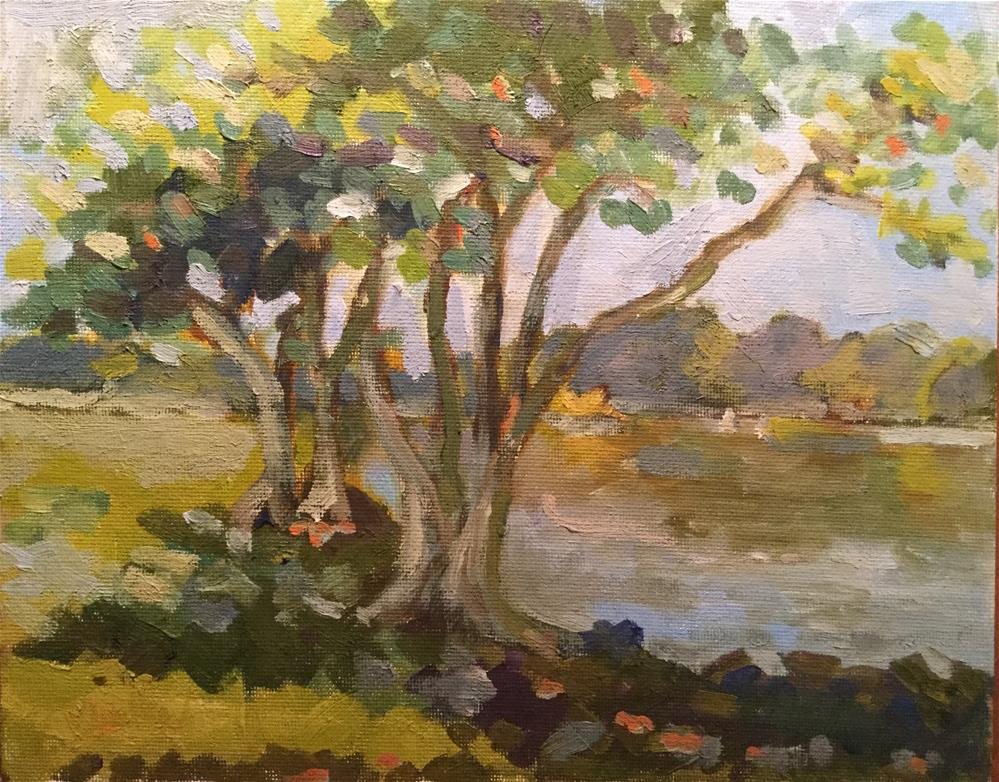 """Summer Pond"" original fine art by Barb Walker"