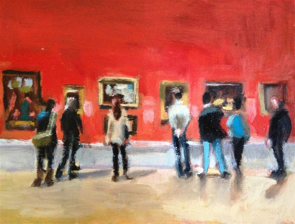 """Field Trip/Red Gallery"" original fine art by Pamela Hoffmeister"