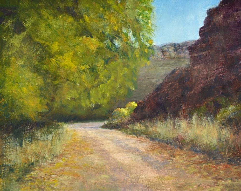 """Around the Bend"" original fine art by Nelia Harper"