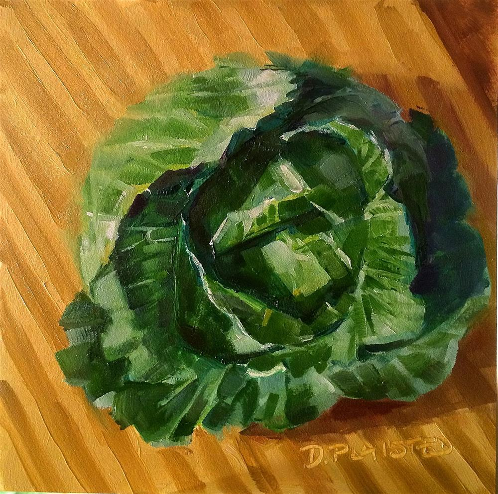 """Chopping Block Cabbage"" original fine art by Diane Plaisted"