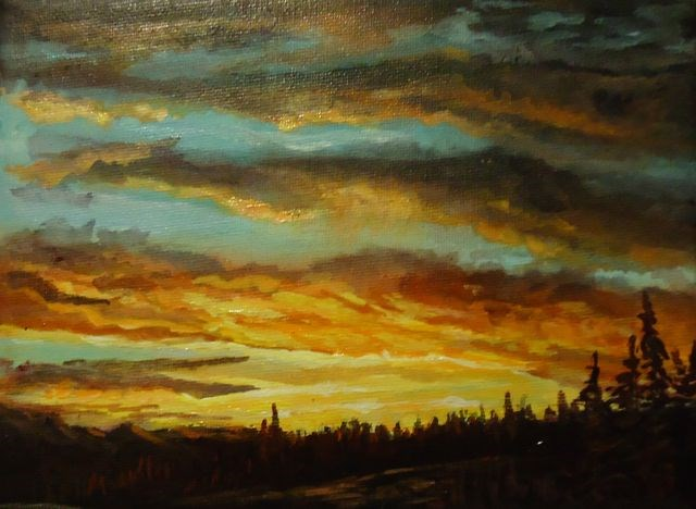 """Sunset near Faro"" original fine art by Jackie Irvine"