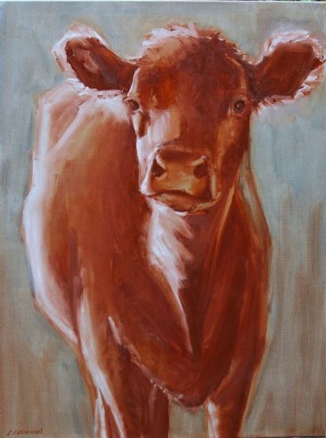 """""""sienna"""" original fine art by Carol Carmichael"""
