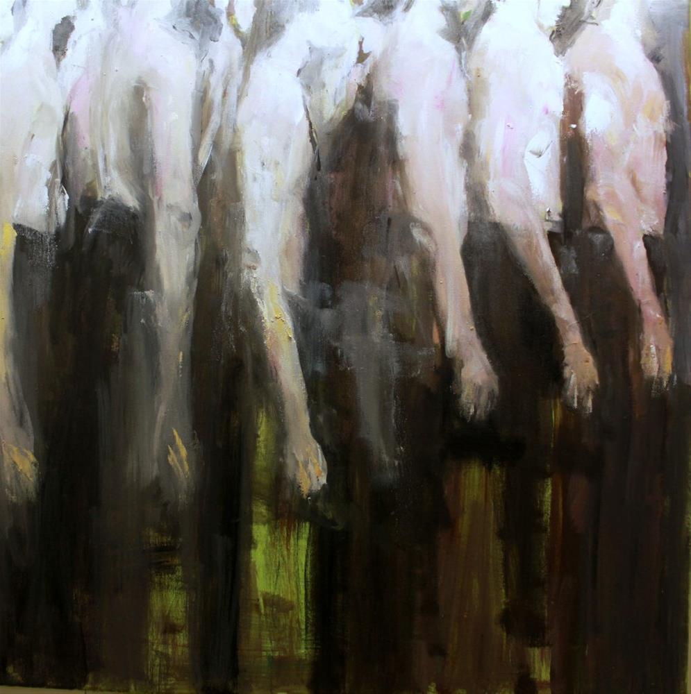"""hintereinander stehen / follow each other"" original fine art by Mila Plaickner"
