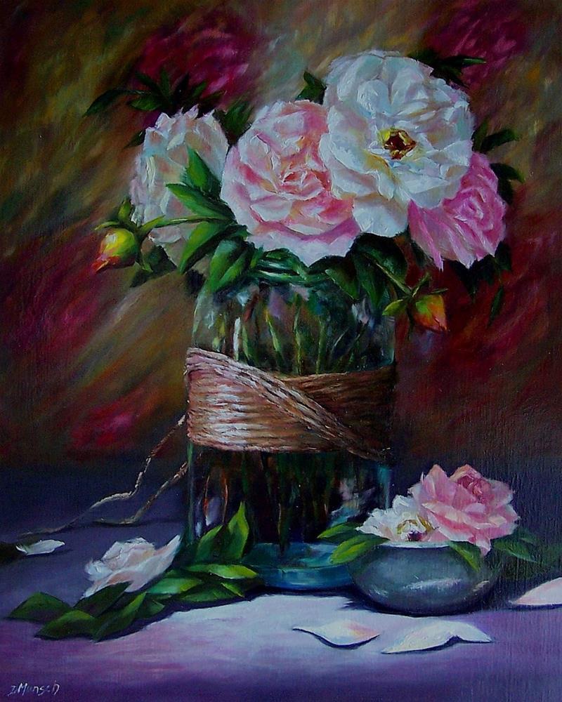 """""""Rose Blossoms"""" original fine art by Donna Munsch"""