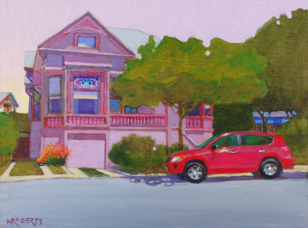 """Purple House, Alameda"" original fine art by Nancy Roberts"