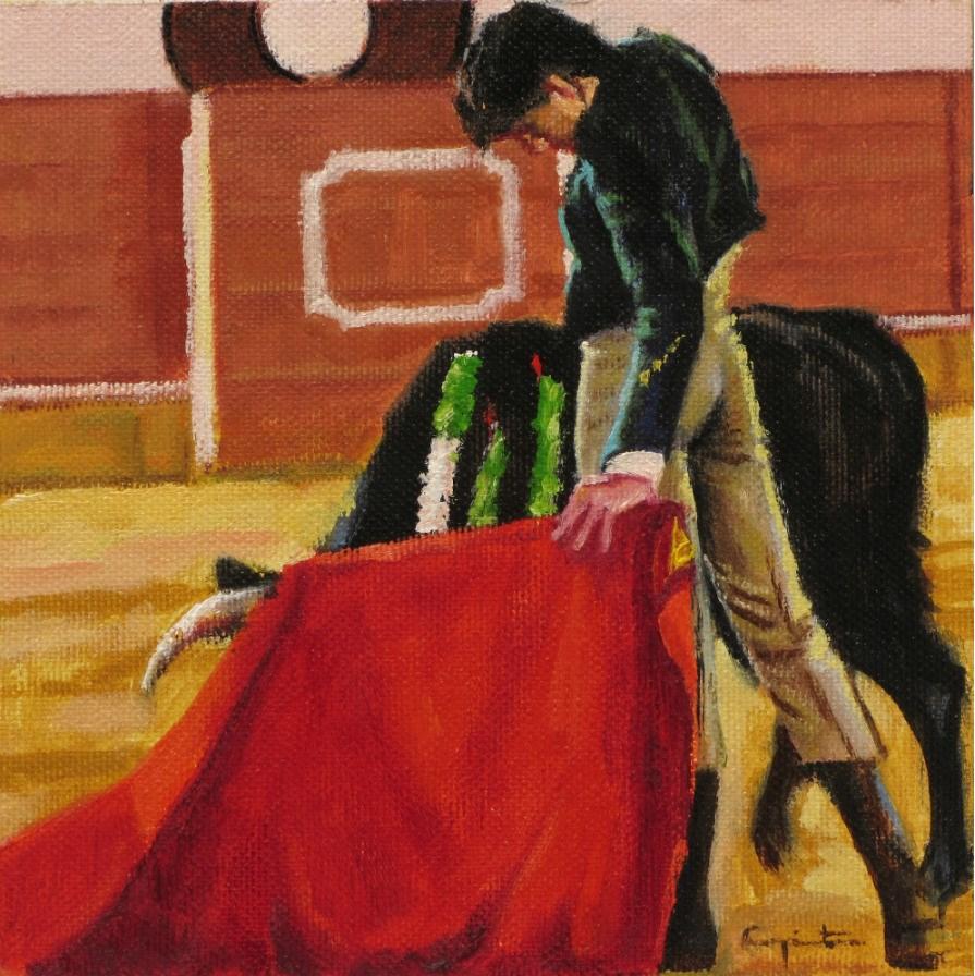 """Sujetando"" original fine art by Eduardo Carpintero"