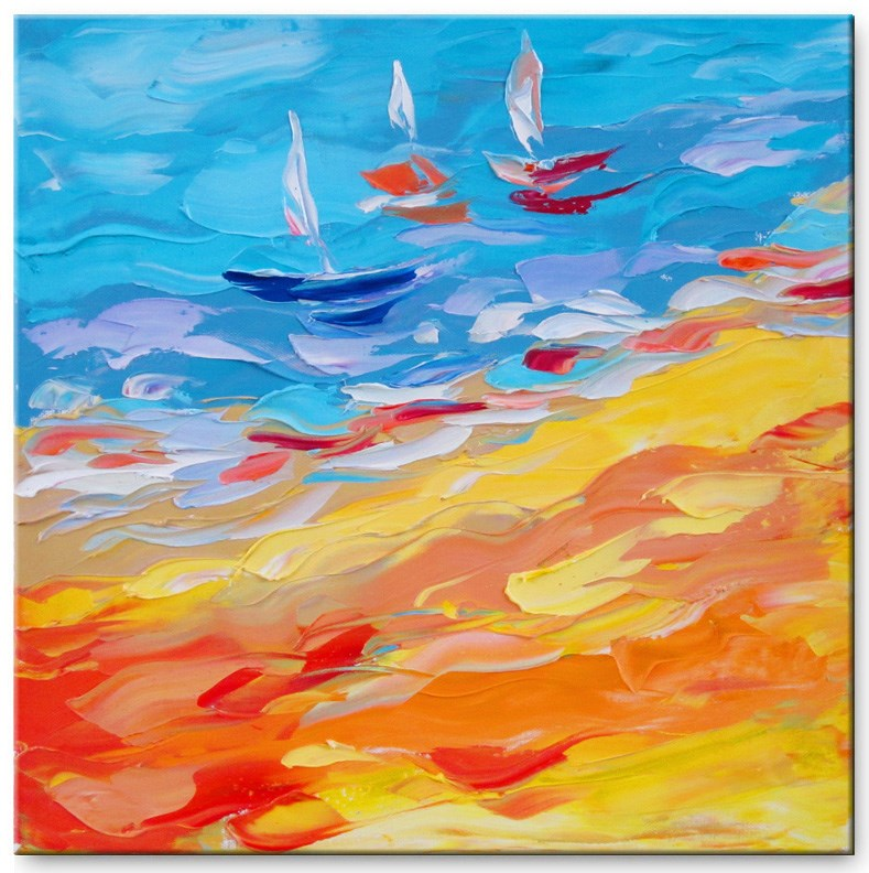 """Sunny Bay"" original fine art by Elena Lunetskaya"