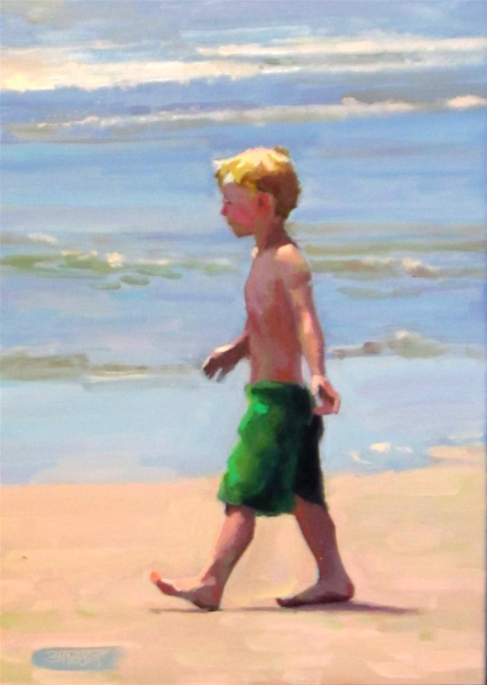 """Daily Diaper #276 Where The Sand Meets The Water"" original fine art by Brian Burt"