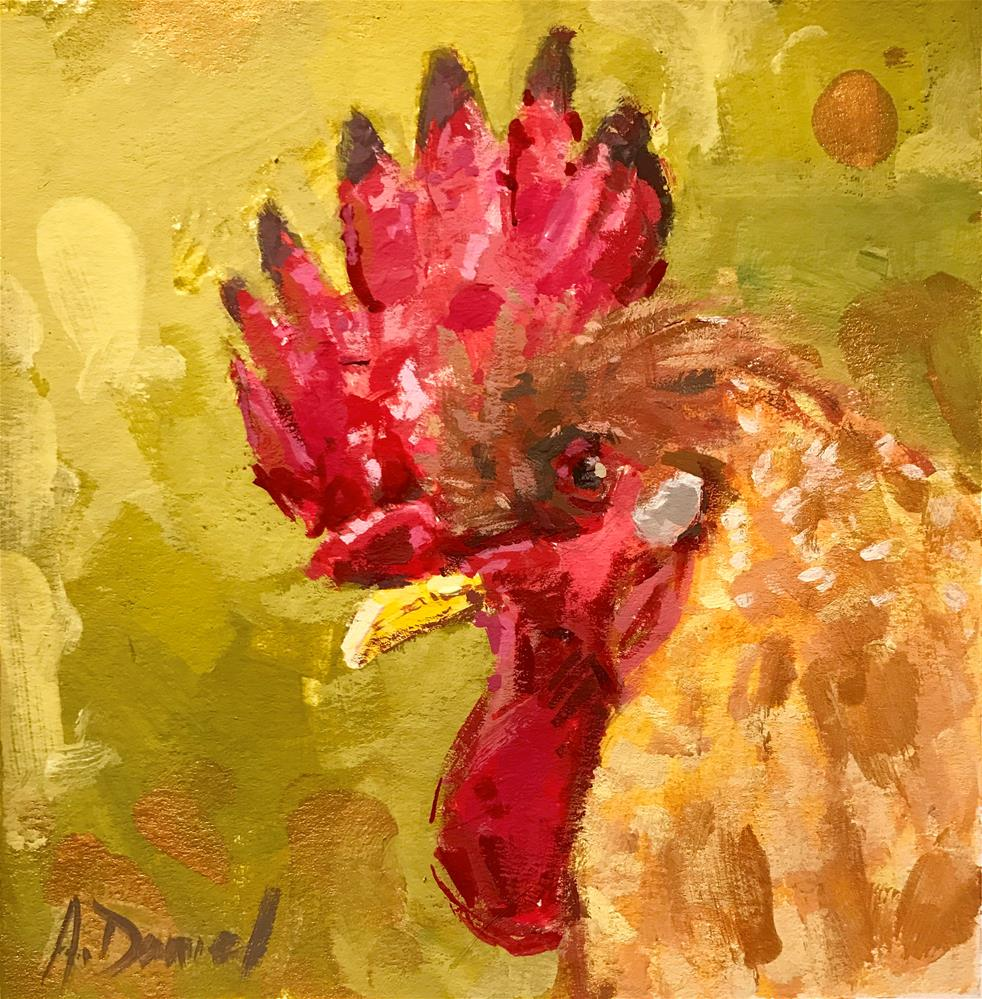 """Chicken Head #5"" original fine art by Andrew Daniel"