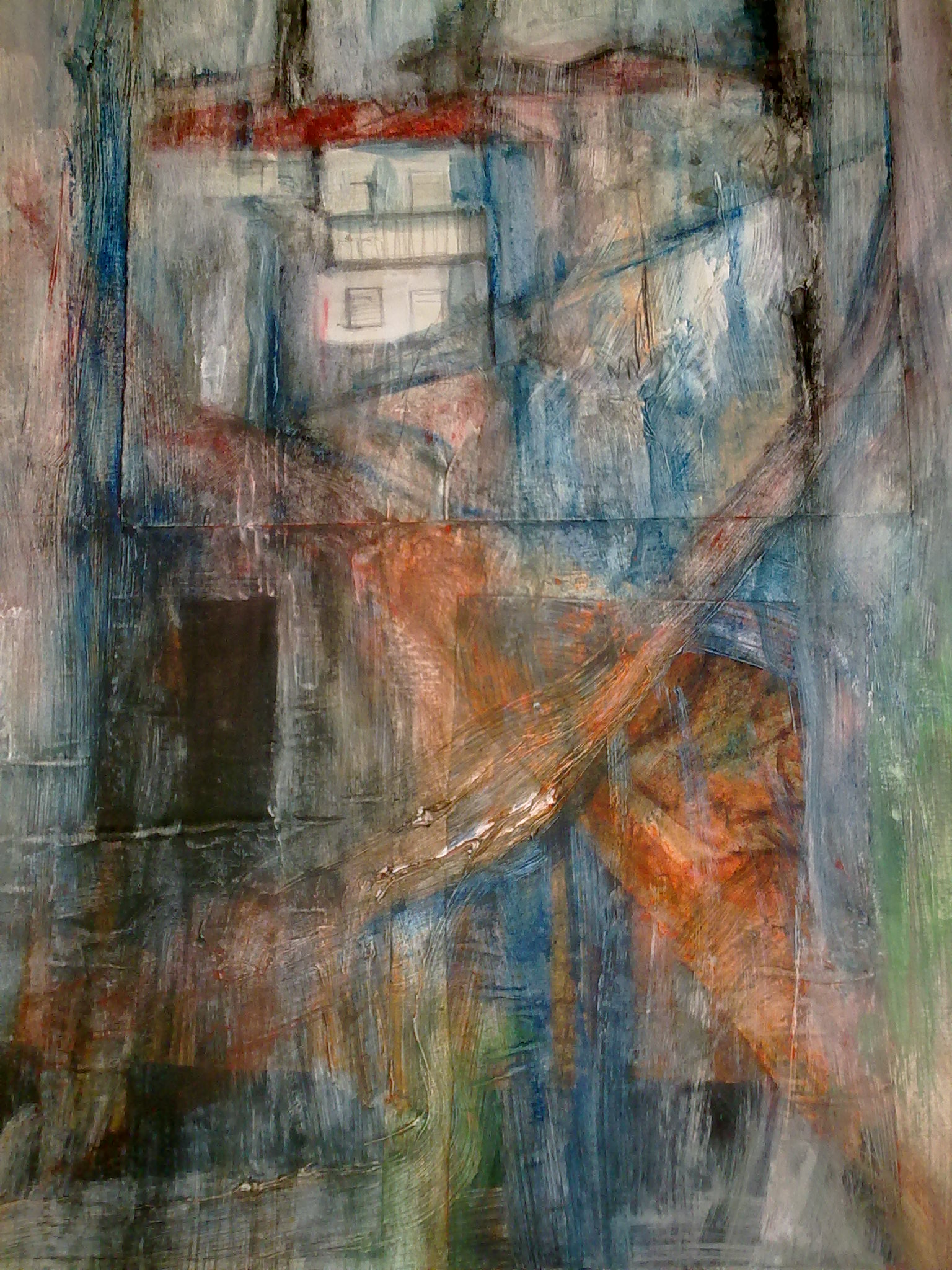 """Houses"" original fine art by Monica Pinotti"