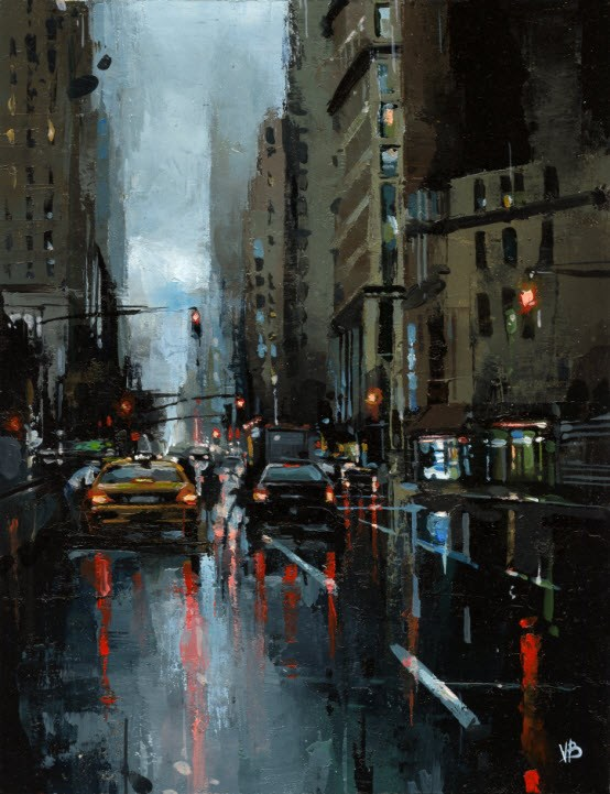 """7 Avenue"" original fine art by Victor Bauer"