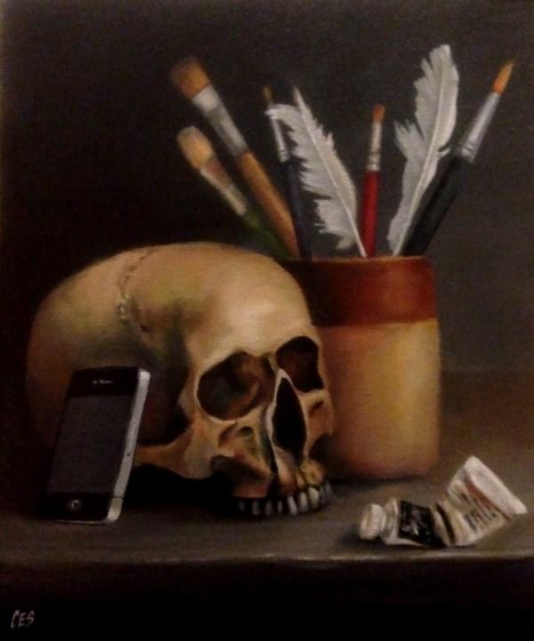 """""""Selfies Killed the Portrait Painter"""" original fine art by ~ces~ Christine E. S. Code"""