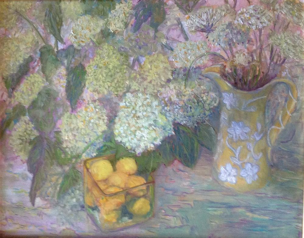 """MOP'S FLOWERS"" original fine art by barbara yongue"