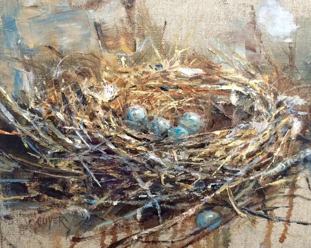 """New Home - Leap Year"" original fine art by Julie Ford Oliver"