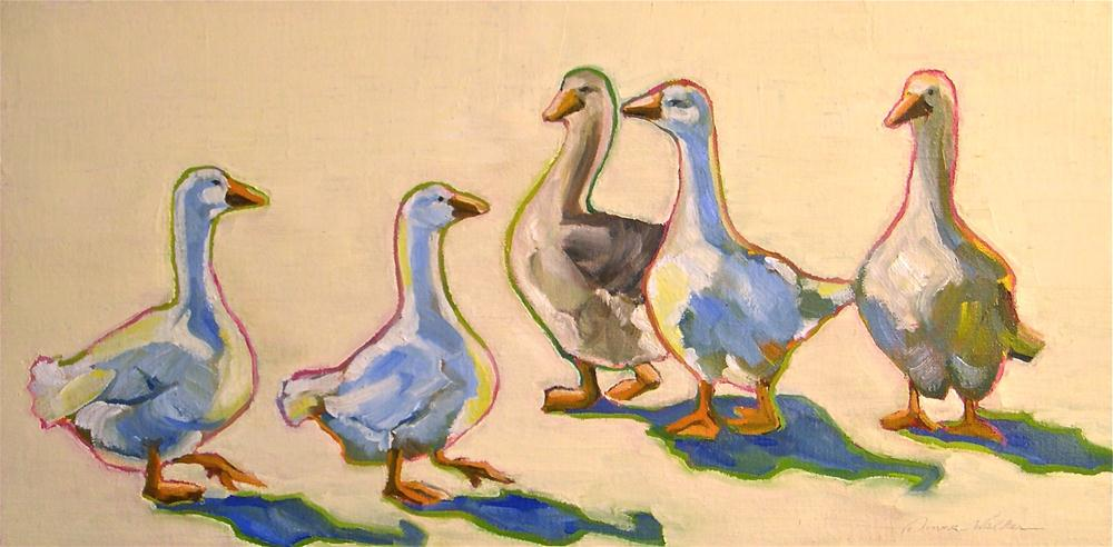 """The Gaggle"" original fine art by Donna Walker"