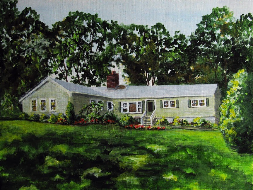 """Connecticut Home"" original fine art by Nan Johnson"