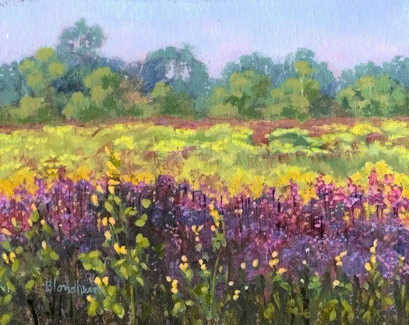 """Field of Flowers"" original fine art by Linda Blondheim"