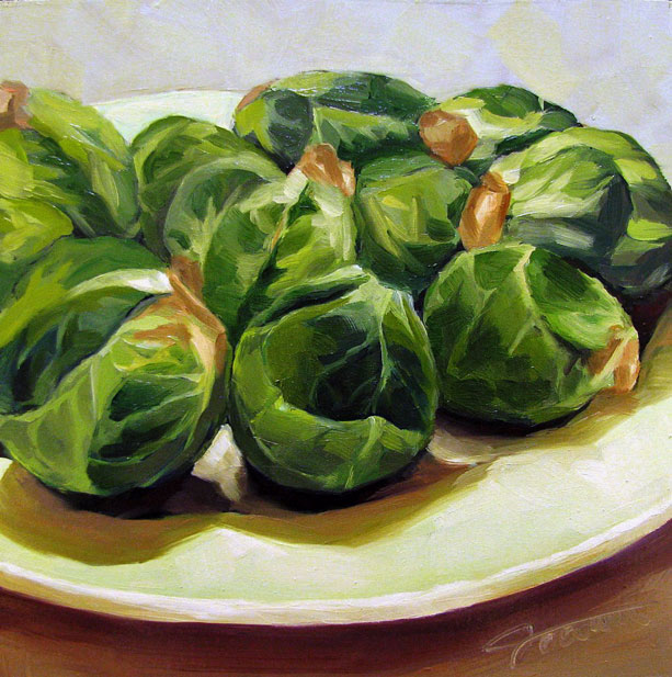 """Brussels Sprouts"" original fine art by Joanna Bingham"