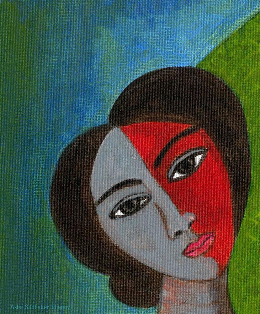 """Portrait"" original fine art by Asha Shenoy S"