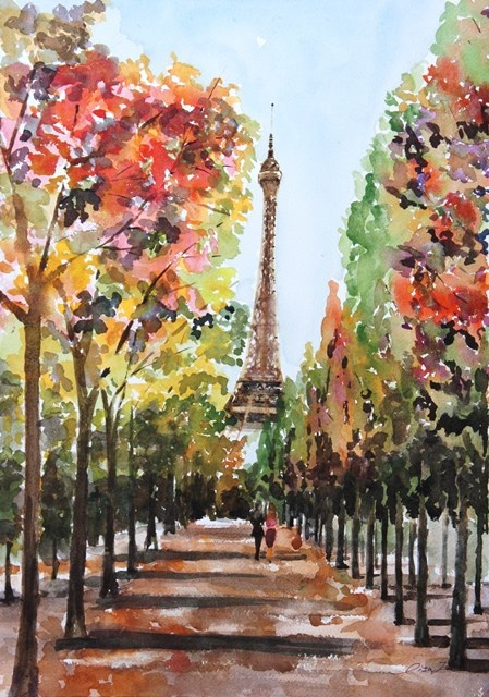 """Path to the Tower"" original fine art by Lisa Fu"