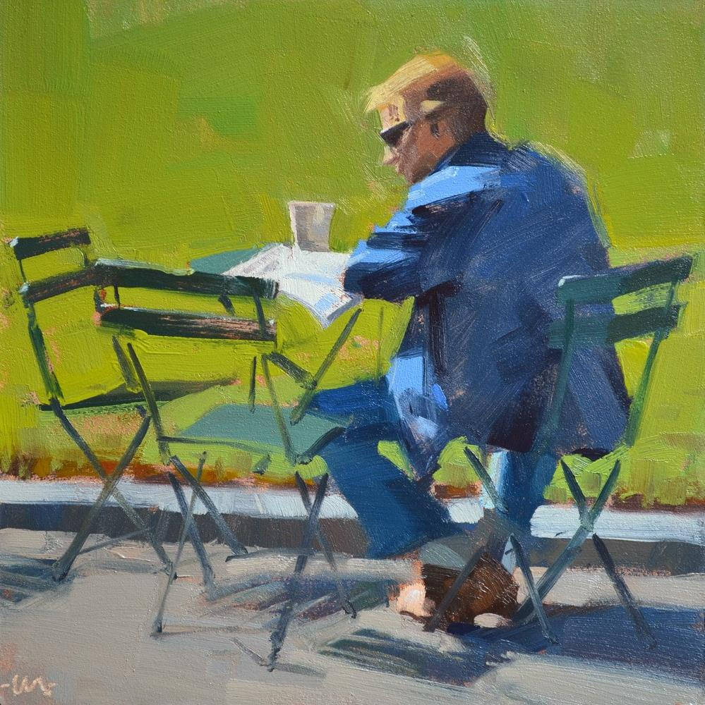 """Absorbed"" original fine art by Carol Marine"