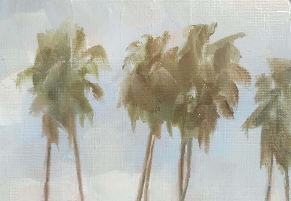"""Palms, Sunday"" original fine art by Gary Bruton"