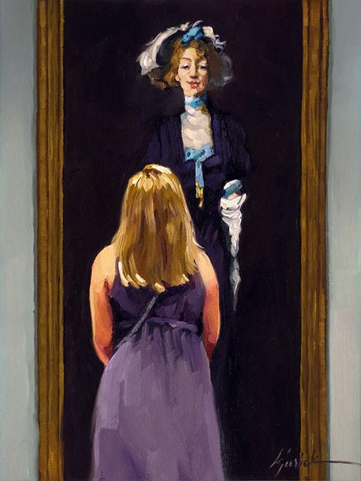 """Ziegfeld's Girl"" original fine art by Karin Jurick"