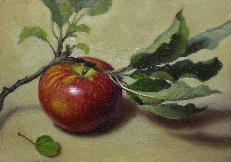 """October Apple"" original fine art by Debra Becks Cooper"