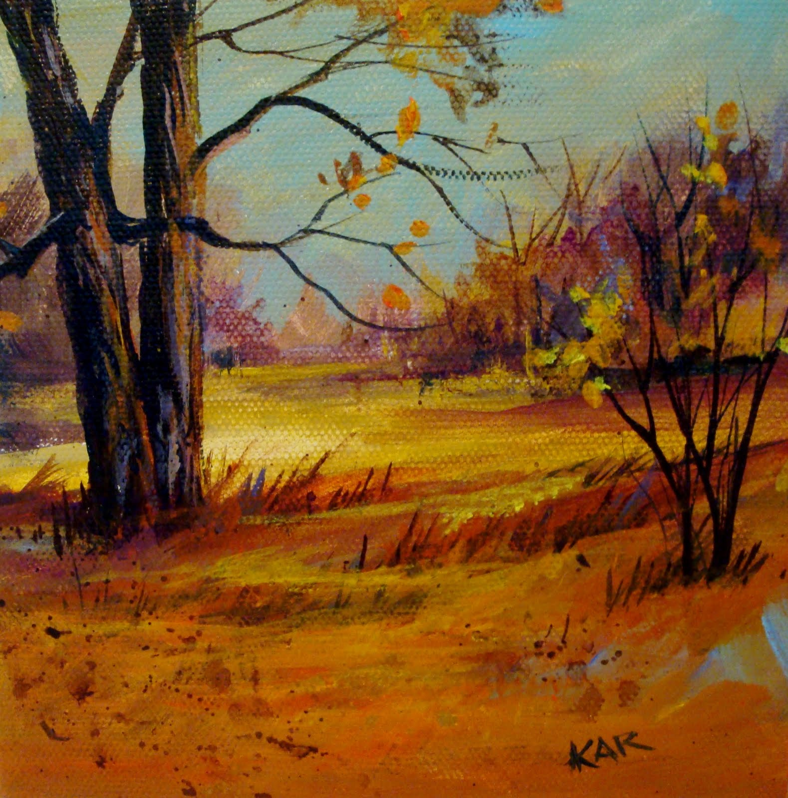 """Fall Acrylic"" original fine art by Kathy Los-Rathburn"
