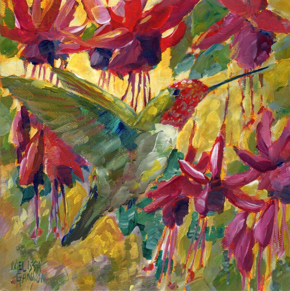 """Sunshine Sparkle"" original fine art by Melissa Gannon"