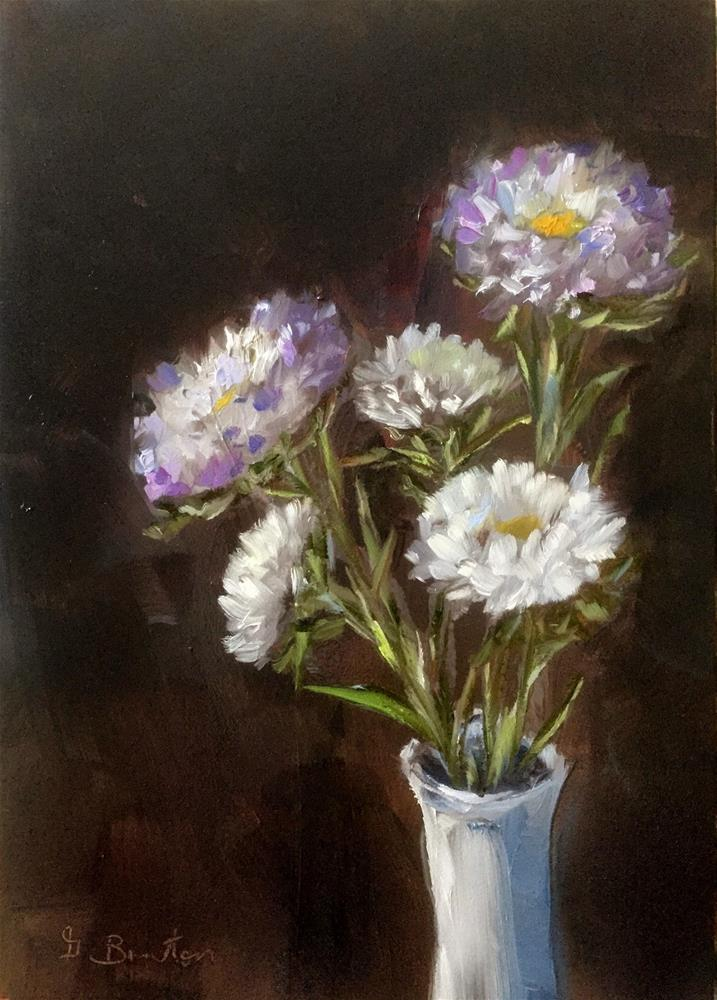 """Matsumoto Asters"" original fine art by Gary Bruton"