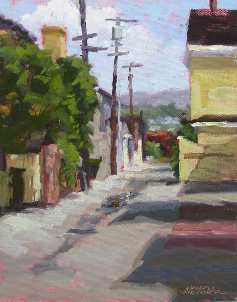 """Island Alley"" original fine art by Karen Werner"