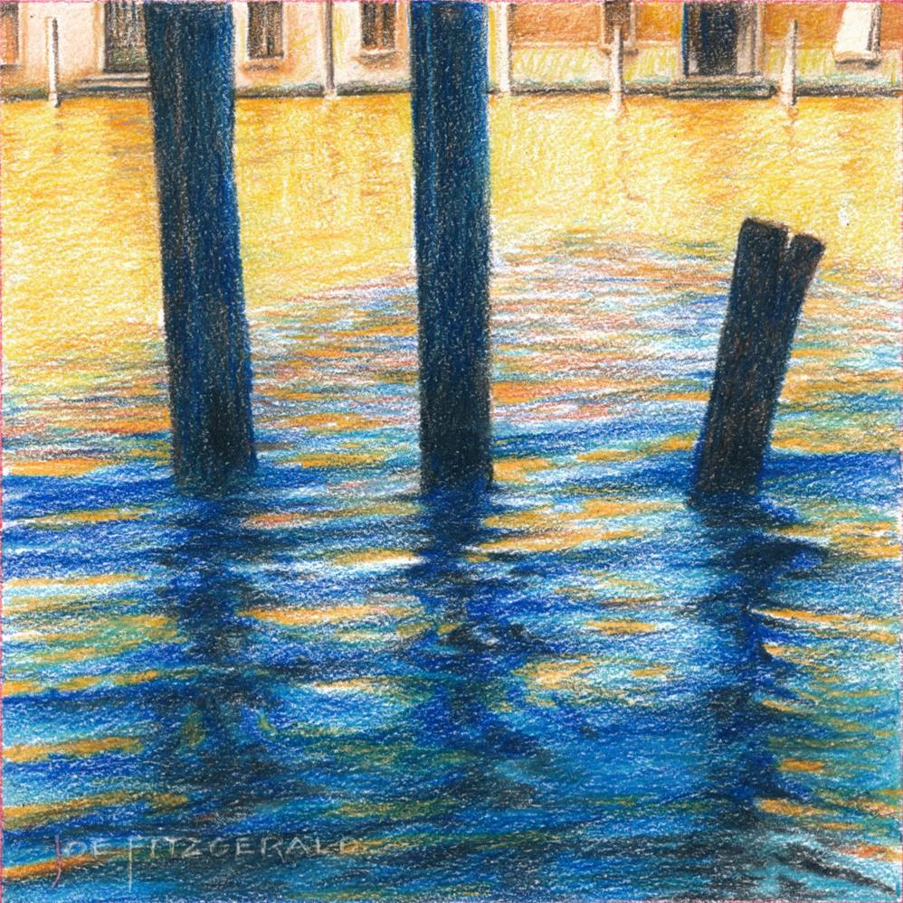 """Posts of Venice I"" original fine art by Joe Fitzgerald"