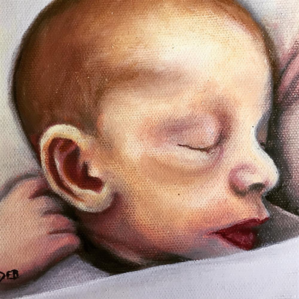 """Timothy's First Month"" original fine art by Debbie Yacenda"