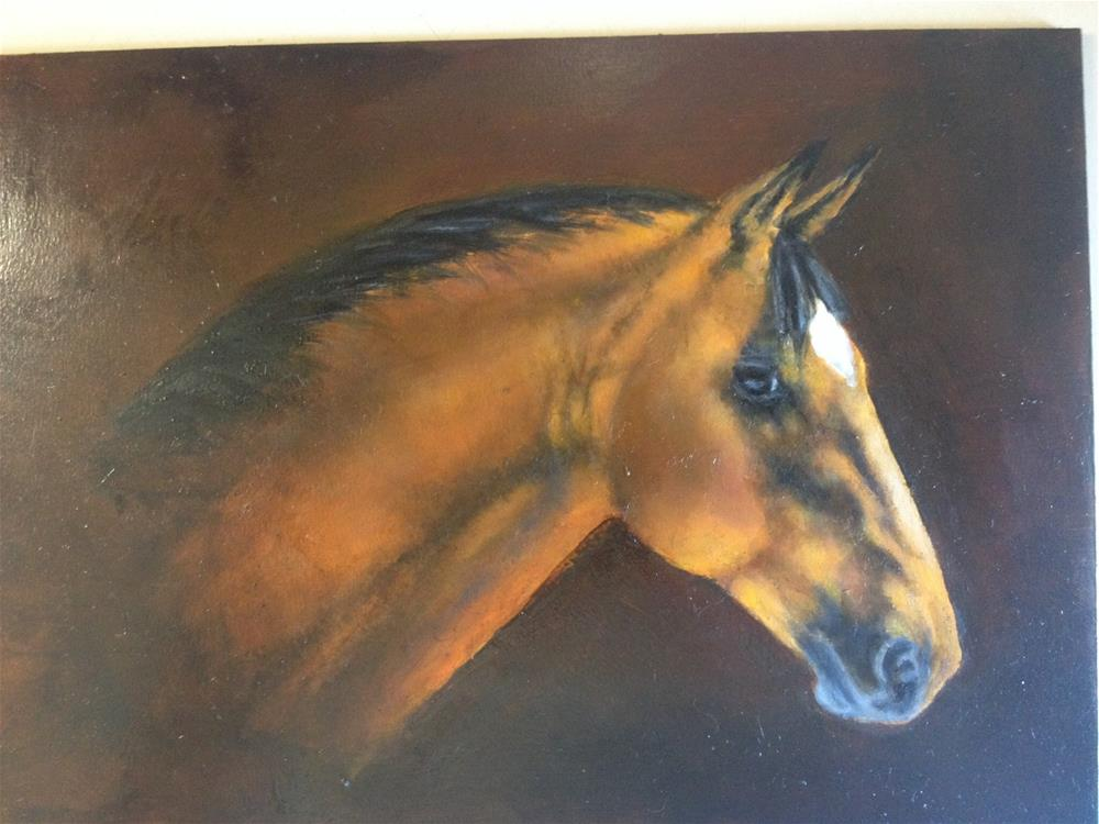 """Bay gelding"" original fine art by Hilarie Johnson"