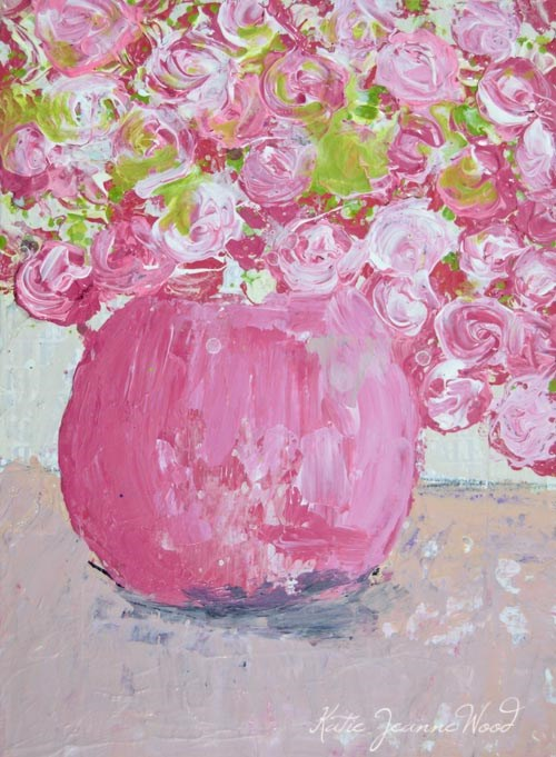 """Floral painting series no 145"" original fine art by Katie Jeanne Wood"