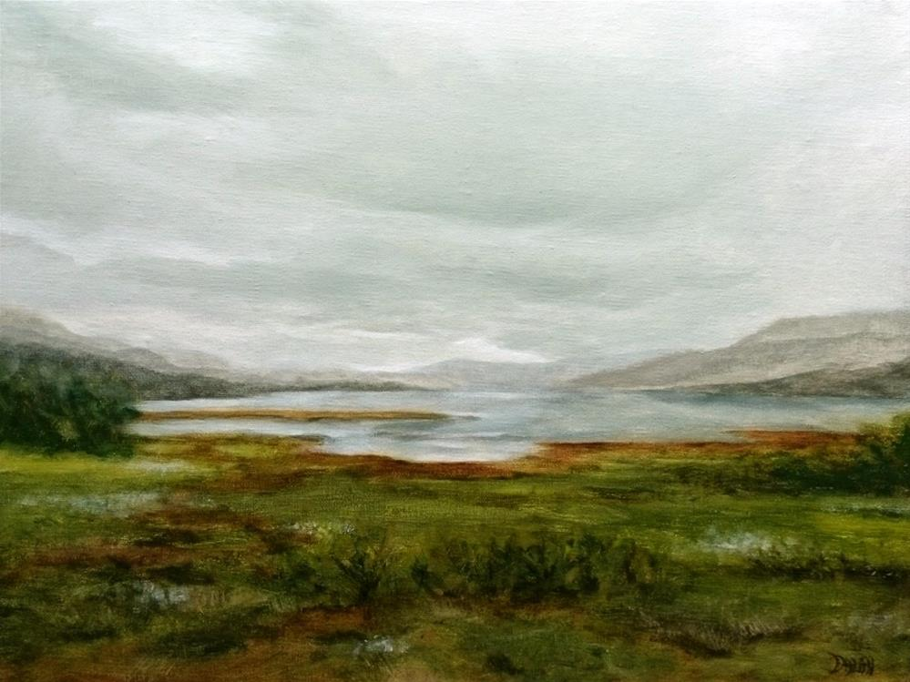 """Stormy Weather In The Scottish Highlands"" original fine art by Dalan Wells"