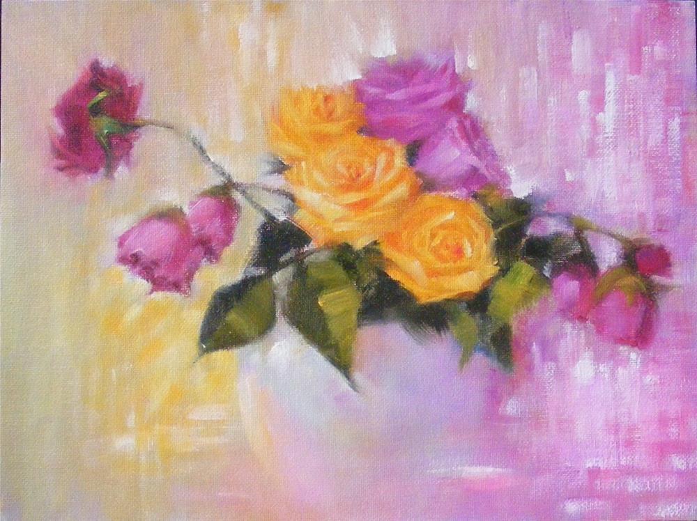 """""""Rosescape II"""" original fine art by Celine K.  Yong"""