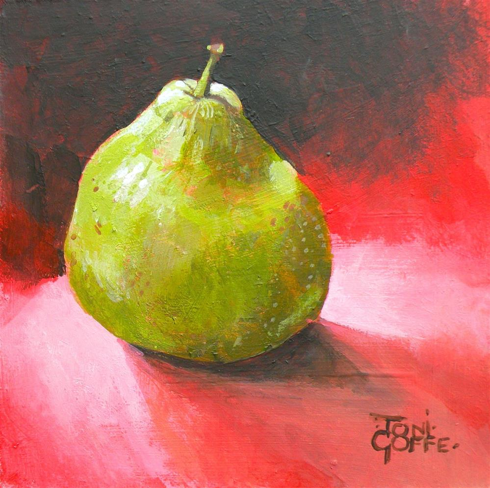 """Pear 1a"" original fine art by Toni Goffe"