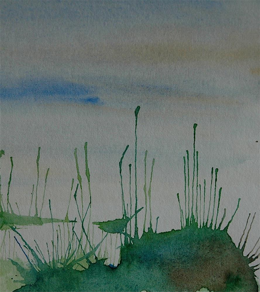 """Marsh grass"" original fine art by Ulrike Schmidt"