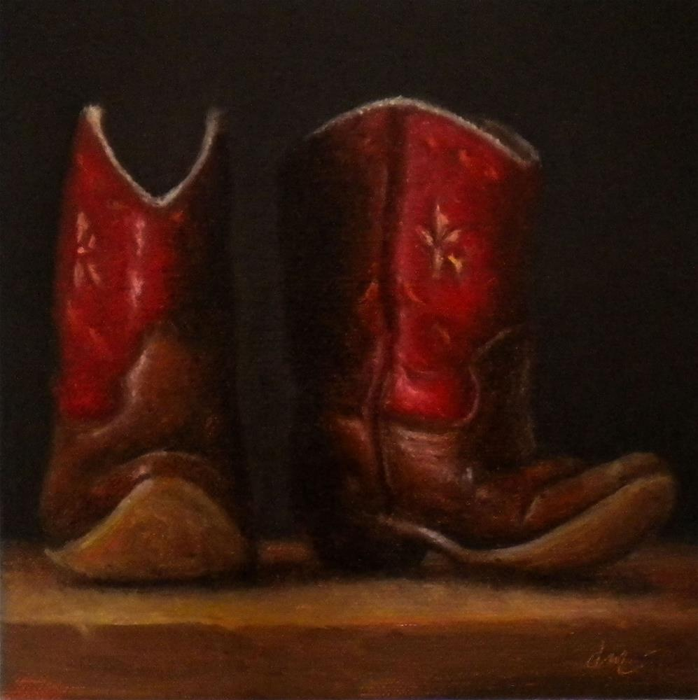 """Daddy's Boys"" original fine art by Darla McDowell"