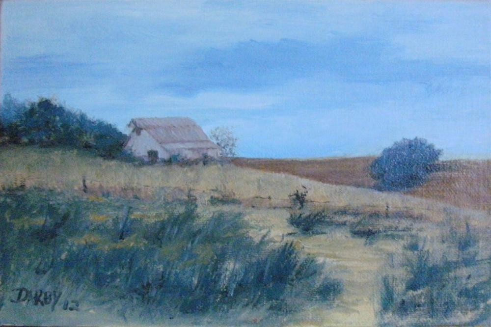 """Cowpath"" original fine art by Lynn Darby"