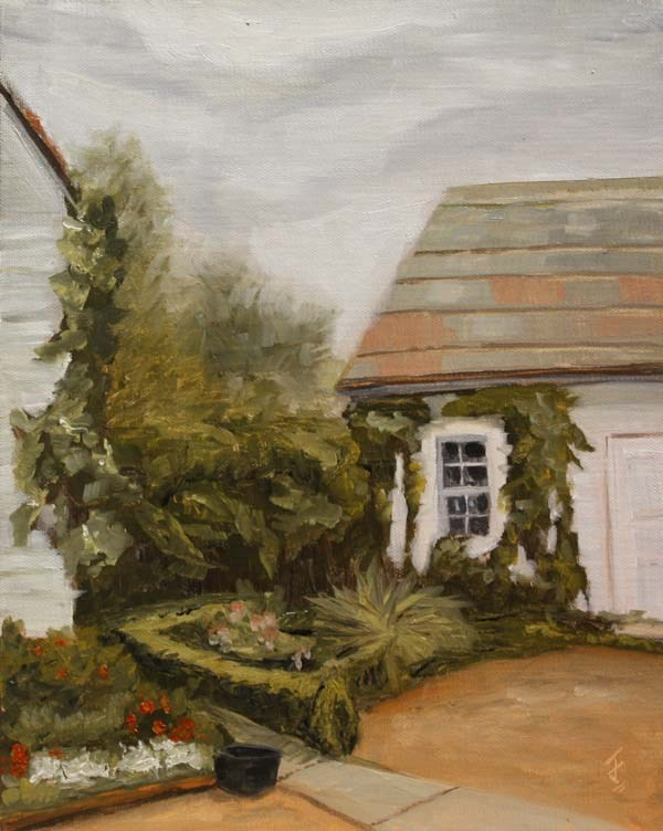 """Barr Mansion Outbuildings"" original fine art by Jane Frederick"
