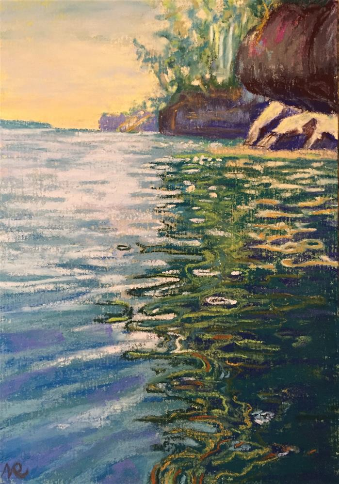 """Lake Superior, WI"" original fine art by Natasha Ramras"