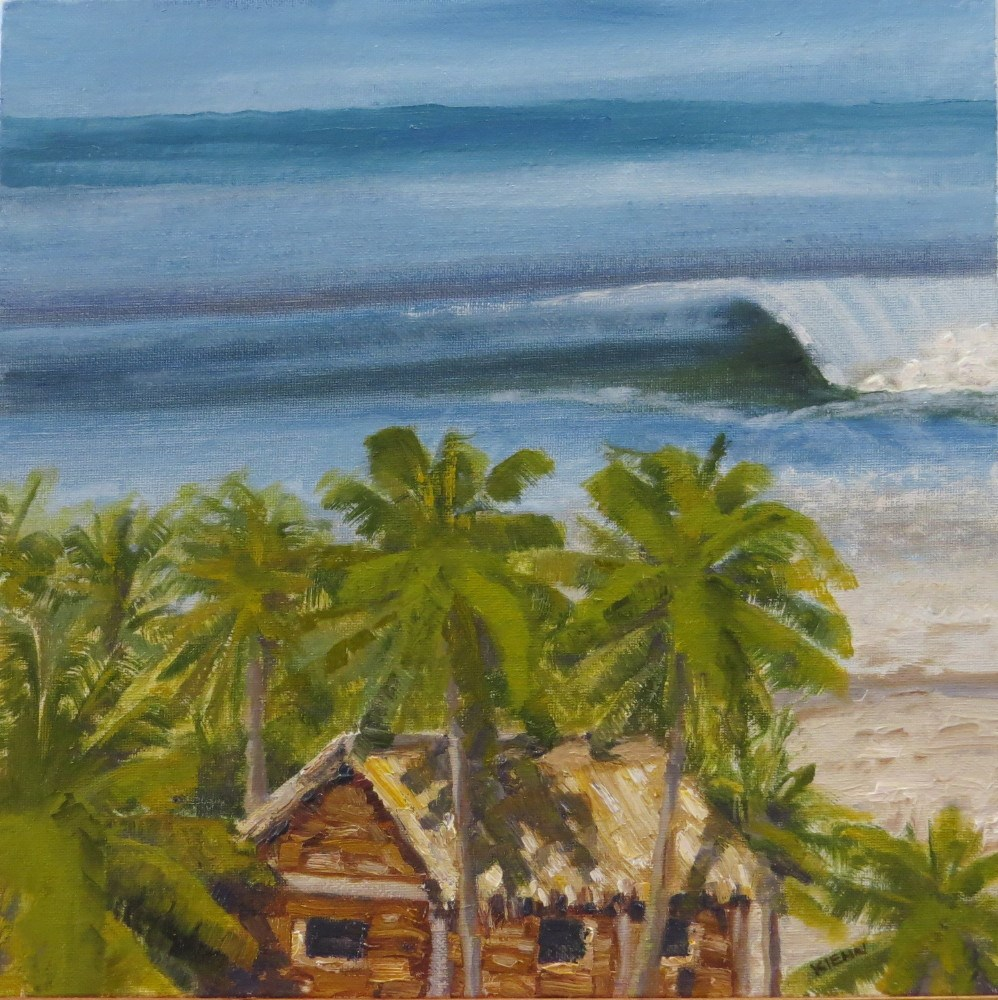 """Surf Shack"" original fine art by Richard Kiehn"
