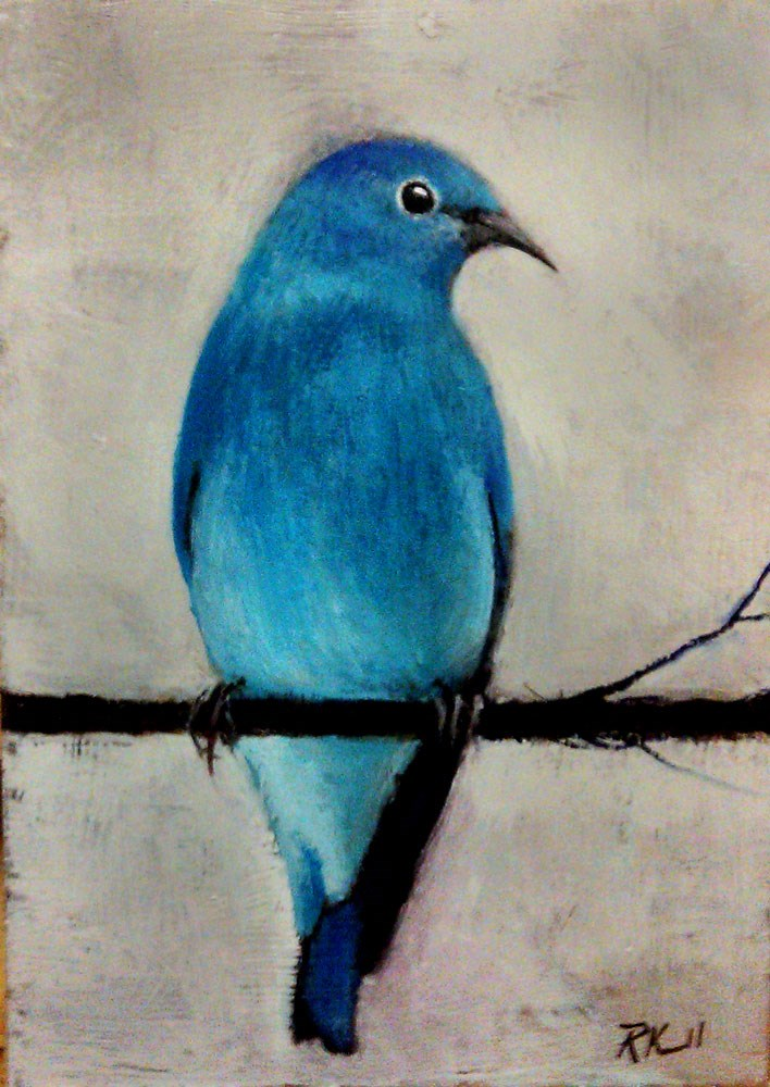 """Mountain Bluebird"" original fine art by Bob Kimball"