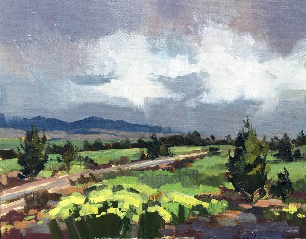 """Spring Rains"" original fine art by Mary Jabens"